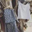 Round Neck Long Ladies Cotton Skirt Top