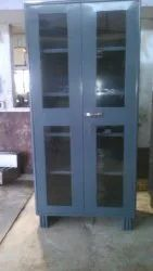 STEEL GLASS DOOR CUPBOARD
