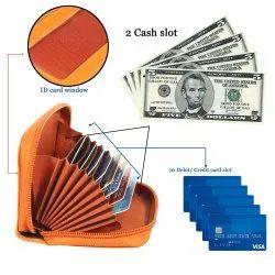 Leather Credit Card Holder Wallet