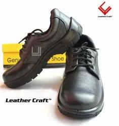 LEATHER CRAFT Black Feather Safety Shoes