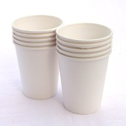 White 200 Ml Plain Disposable Paper Cup, Packet Size: 100 Pieces