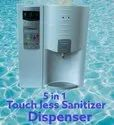 Contactless Sanitizer Dispenser With Body Temperature Monitor