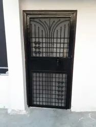 Black Iron Security Door