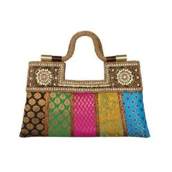 Cotton Ladies Designer Clutch, Size: Loop Handle