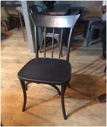 Handicraft Point Black Industrial MS Powder Coated Chair For Restaurant