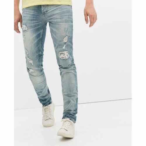5e9ecc3105d Blue Denim Mens Ripped Jeans