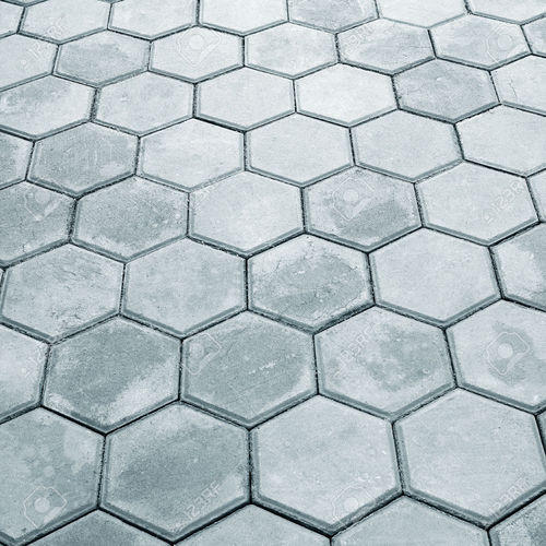 Grey Hexagon Stylish Paver Block, Size: 200x100mm