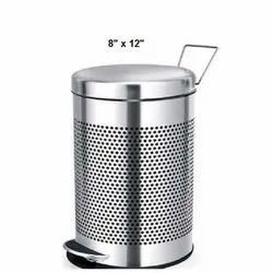 8 X 12 Inch Stainless Steel Pedal Bin
