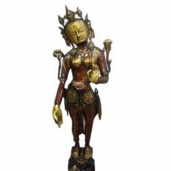 Big Brass Tara Statue, for Interior Decor