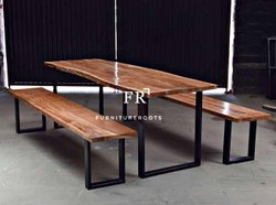Cafe Furniture - Dining Table & Bench Set - Outdoor Bistro Dining Set - Bistro Furniture