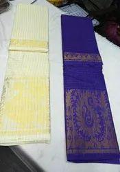 OSP Brand Madurai Cotton Zari Checks Big Border Saree
