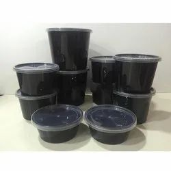 White Plain Round Plastic Food Container for Food Packaging, Capacity: 100-1000 mL