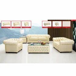 Cream Color 4 Seater Designer Sofa Set