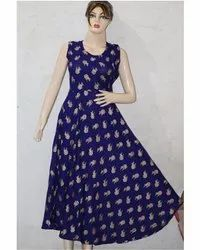 Rayon Gold Print Frock