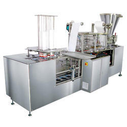 Glass Cup Filling and Foil Sealing Machine