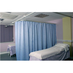 Blue Hospital Curtain