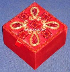 Square Embroidery Jewellery Box