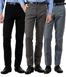Men's Cotton Plain Corporate Trousers