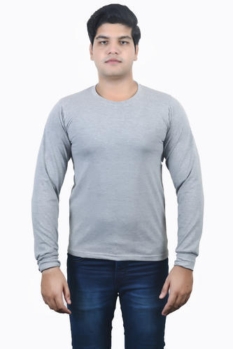 343b4c67d Light Gray Melange -Round Neck Full Sleeve T-Shirt - NXT G Creations ...