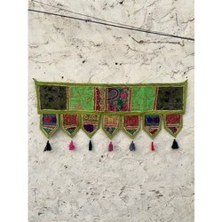 Cotton Hand Embroidered Patchwork Ethnic Wall Hanging Home Decor Toran