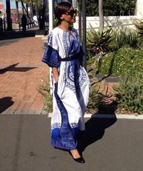 Long African Cotton Kaftan