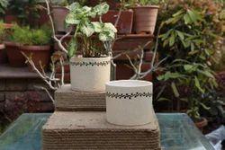 Ceramic Black Painted Planter
