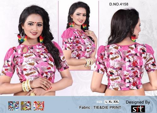 Digital Printed Designer Blouse