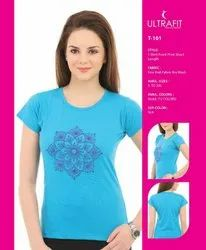 Printed Round Neck T Shirt