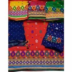 Cotton Printed Kutchi 3 Pic Work Dress Material