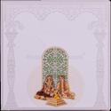 Paper Box Invite Traditional Hindu Wedding Invitation Card, Size: 230