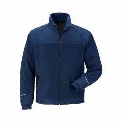Full Sleeve Polyester Mens Blue Designer Jacket, Size: Small