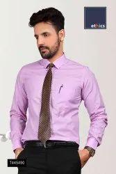 Purple Plain Readymade Uniform Shirts for Corporate Staff