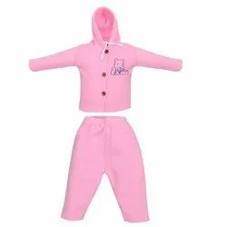 Baby Pink Cotton Pajamas Set