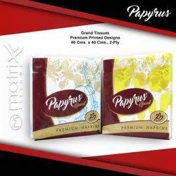 White 2 Ply Papyrus Grand Paper Napkin, Size: 40x40 cm