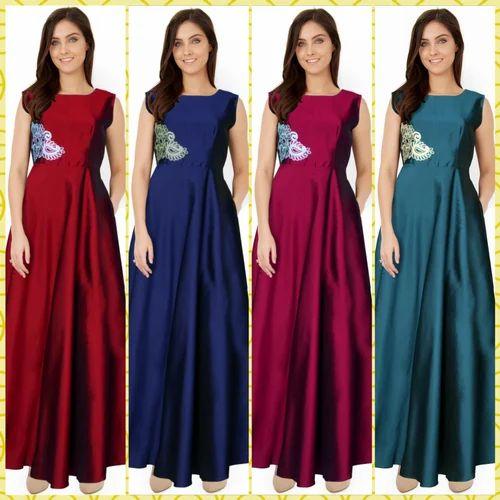 3c8e1f4b615 Taffetta Ethnic Designer One Piece Gown
