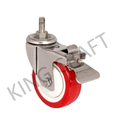 Stainless Steel Die Pressed  M12Treaded  Caster Swivel