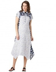 Printed A Line dress