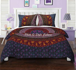 Multi Color Floral Mandala Duvet Quilt Cover