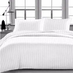Machine Wash Satin Stripe Bed Sheet
