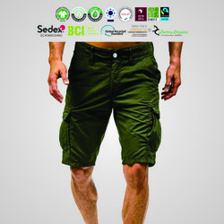 Eco Cotton Mens Cargo Shorts