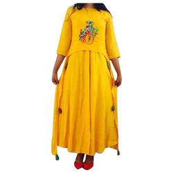 Womens Rayon Double Layered Designer Kurti