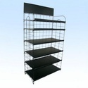 Mild Steel White Supermarket Display Rack, Foldable (y/n): No