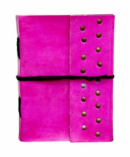 Pink Leather Journal Diary f39890496