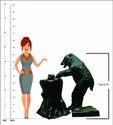 Bear Holding Stem -Look Fountain