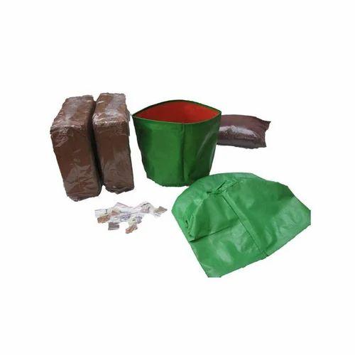 Green Orange Round Maadi Thottom Kit 25 Plant Hdpe Grow Bag