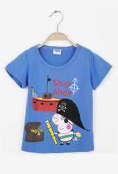 Blue Baby Boy Cartoon T-shirt