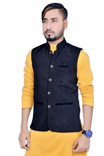 b99d697f0 Recon Men s Base Saineel Hot Looking Nehru Jacket-Black at Rs 330 ...
