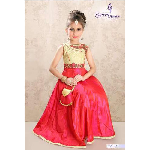 Kids Traditional Gown, Bachchon Ka Gown, किड्स गाउन - Savvy ...