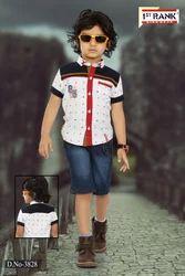 Cotton (shirt) Casual Wear Boys Capri Set