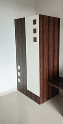 Plywood White and Brown Children Cupboard